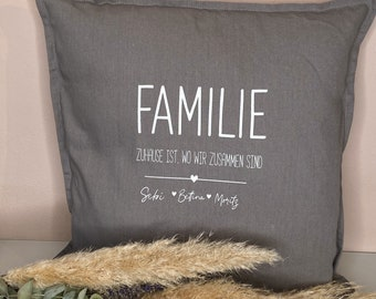 Pillow cover personalized - Pillow case personalized - Family - Pillow with name