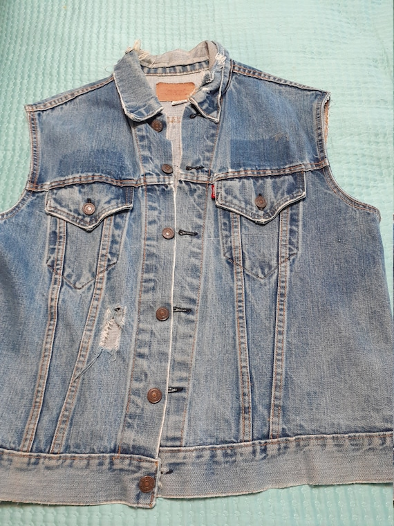 Vintage 1960's Levi Vest with 1960's Honda Patch