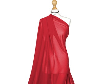 "Premium Crepe Chiffon plain Dyed Oeko-Tex fabric 44//45/"" decoration,craft /& dress"