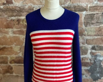 Up cycled vintage long sleeve red cashmere top  #42
