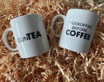Sweary novelty mugs