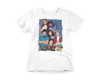 Saved by The Bell 80s Sitcom Cast Portrait Pictures Toddler T-Shirt Tee