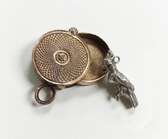 Charming Antique Miniature Georgian Box Locket Kee