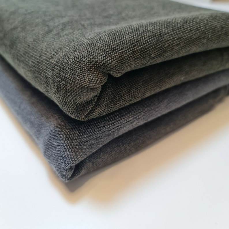 Plain Grey  Viscose Lycra Knitted Jersey Stretch Fabric Material 58