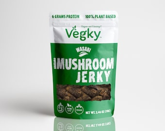 Wasabi Vegan Shiitake Mushroom Jerky 70 Grams