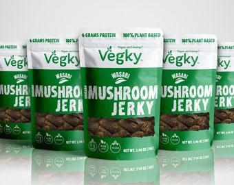 Wasabi Vegan Shiitake Mushroom Jerky 70 Grams - 5 Packs