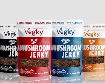 Mushroom Jerky 4 Flavors (70 Grams each)