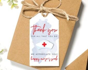NurseDoctorMedical Tag Instant Digital Download Happy Nurses Week Printable Tag