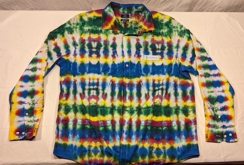 78 Custom Tie Dye Button Down Shirt 2XL