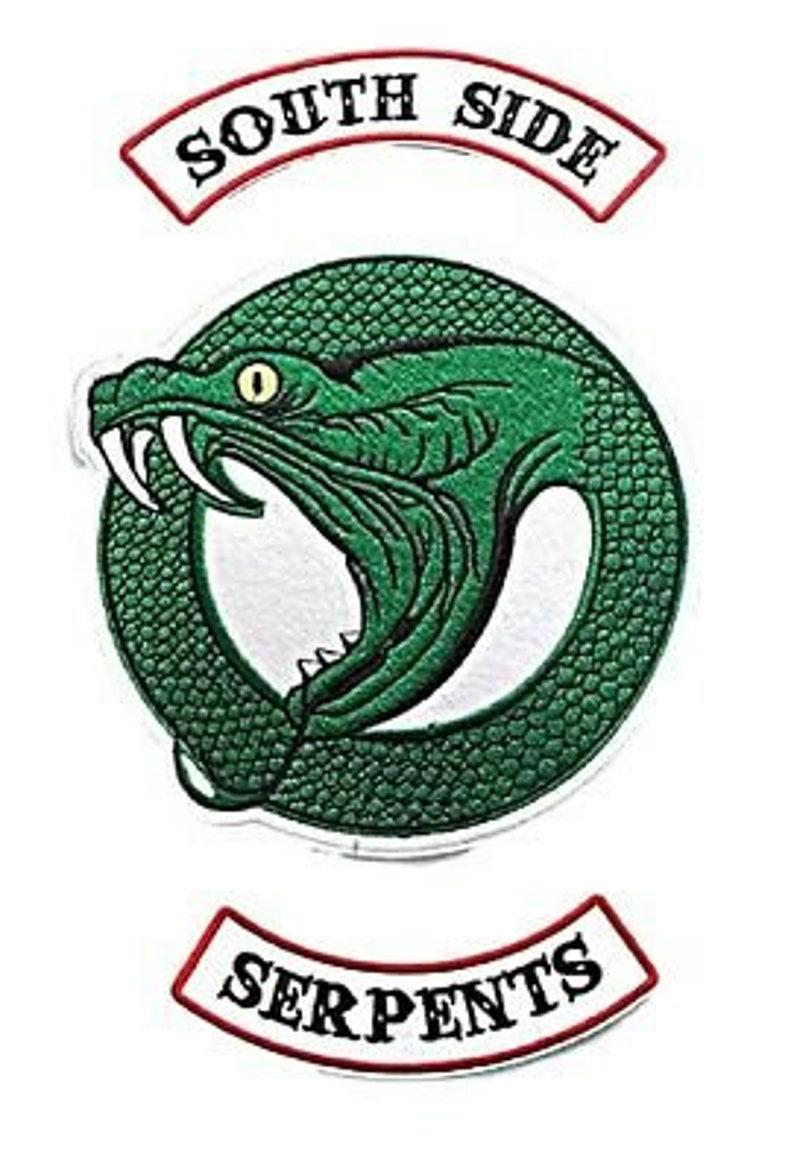 Riverdale TV Show Southside Serpent 3 Piece Set Iron On Large 9 Jacket Patches