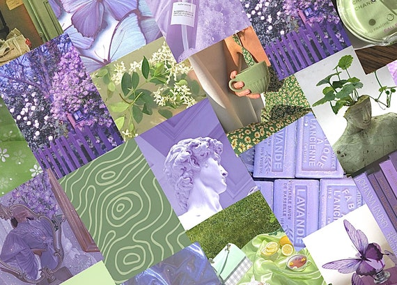 Lavender And Green Sage Aesthetic Collage Kit Etsy This is a digital download! etsy
