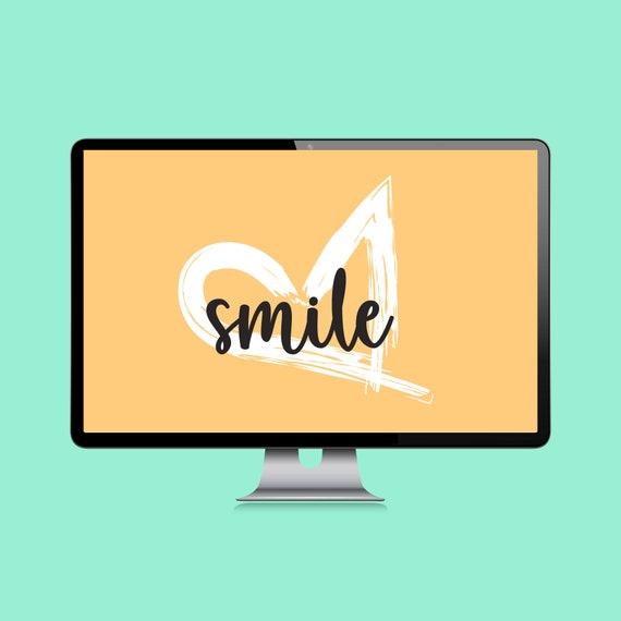 Positive Bright Desktop Wallpaper Desktop Background Etsy