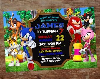 Sonic Digital Invite Etsy