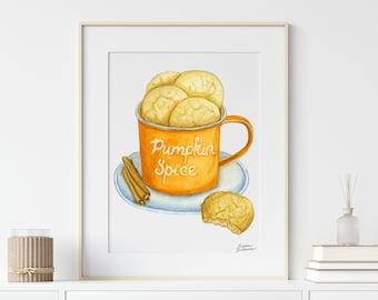 Pumpkin Spice Latte, Halloween Printable Wall Art, Fall Printable Wall Art, Pumpkin Printable, Trendy Wall Art, Thanksgiving Art, Fall Décor