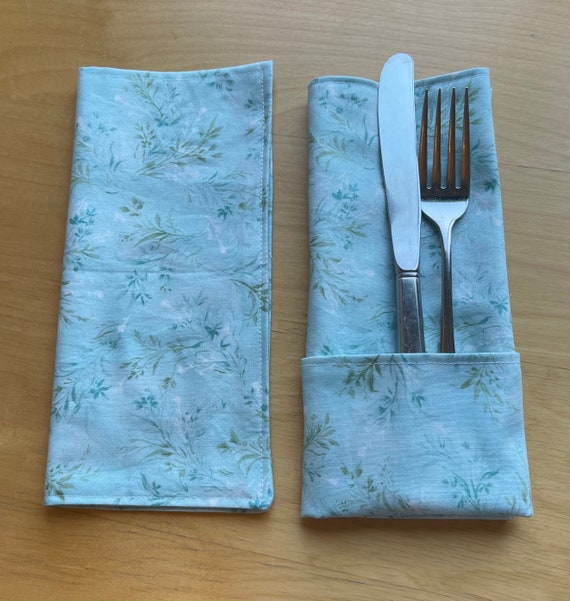 Floral Cotton Cloth Napkins, Cocktail or Luncheon, Double Sided, Zero Waste, Sustainable
