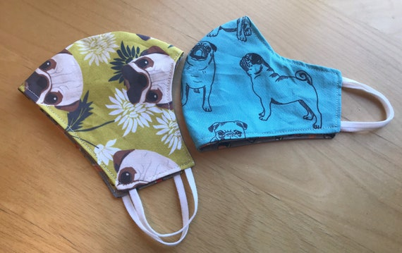 Pug Face Mask, Gifts for Pug Lovers