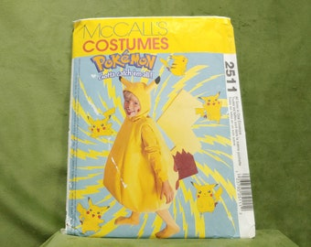 McCalls 2830 P202 Childs POKEMON Costume Pattern CHARMELEON  Boys Girls Sewing Pattern Size 4 5-6 Breast Chest 23-28 Or 4 5-6 7-8