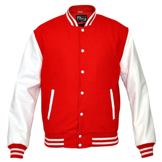 Men's Wool with Real Leather Premium Varsity Lette