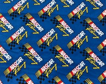 Nascar Racing fabric Retro - 1/2 Yard
