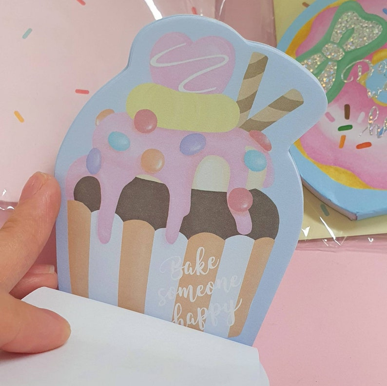 cupcake donut doughnut sweets bakery memo pads sheets Kawaii cute Japanese memo note books pads paper book stationery Amifa Japa