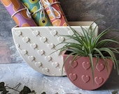 String of Hearts Modern Wall Planter, inside planters, boho gifts, gifts for her, heart planters