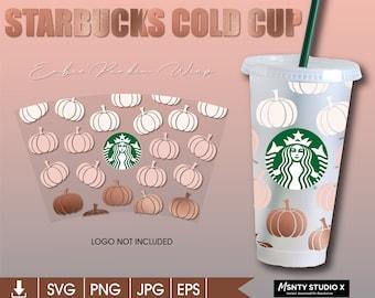 Starbuck Pumpkin Ombre' svg ,Fall Pumpkin svg,Fall cold Cup svg ,Pumpkin Cold Cup ,Fall season Starbucks,digital download Cutfiles