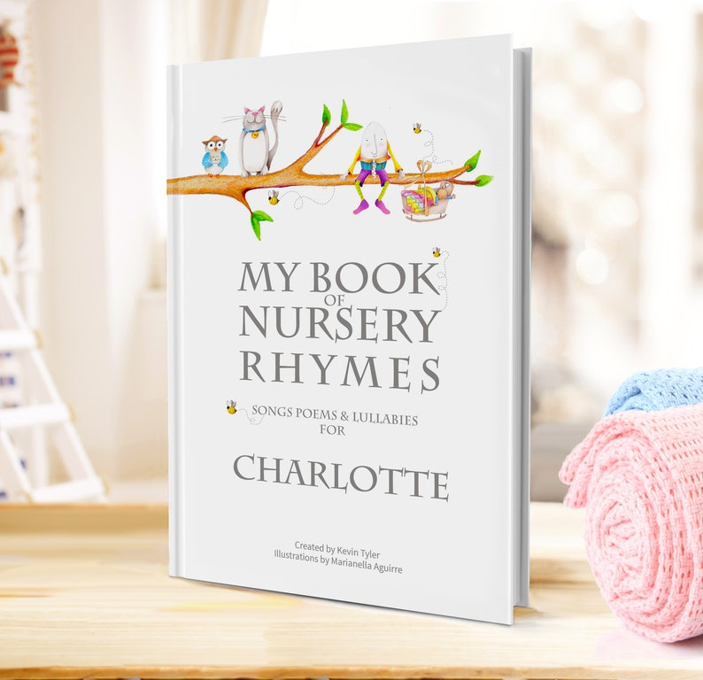 Personalized Baby or Toddler Book: My Nursery Rhyme & Poems image 0