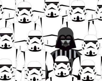 12 Yard Star Wars Cartoon Cotton Characters Fabric Rainbow Mini Trooper Stormtrooper