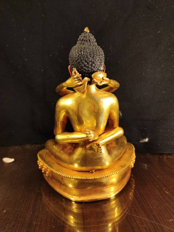 Handcarving Natural Seashell Mother Of Pearl Gautama Buddha Statue Buddhism Pendant Genuine 750 18k 18ct Yellow Gold Fale Fittings
