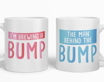 Mummy /& Daddy Gift Sets Pregnancy Funny Brewing Bump Mug Set for New Parents