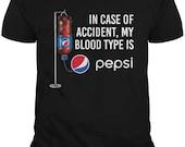 in Case of Accident My Blood Type is -Pëpsï Shirt t-Shirt for Men DMN Black
