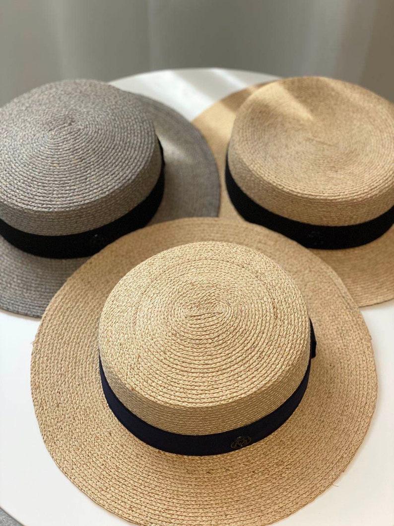 1940s Mens Hats | Fedora, Homburg, Pork Pie Hats Evergreen Handmade Lodon Boater Hat $64.77 AT vintagedancer.com