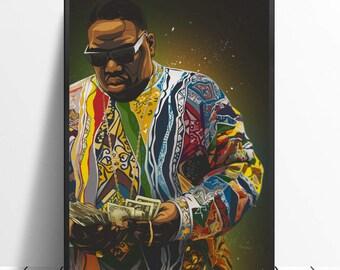 Notorious B.I.G rapper Biggie Smalls  artdictionary page art print vintage  O83