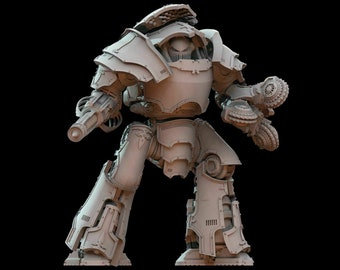 Atlas Armoured Dreadnought | Compatible with 28mm Sci Fi Wargames - Model kit