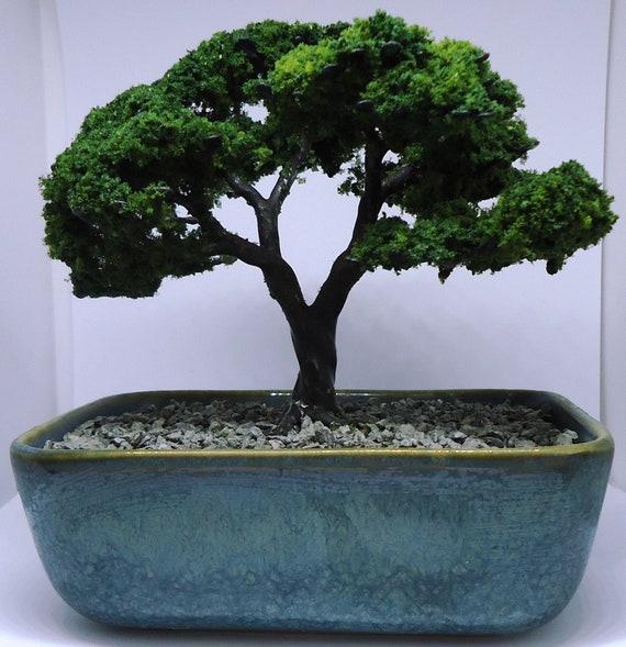 Artificial Bonsai Tree Ornament Goliath Etsy
