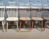 New Solid Beech Nordic Kitchen Dining Chair in Natural colour or Stained