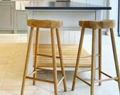 Brand New Solid Beech Shaker 39 s Style Bum Kitchen Island Bar Stool