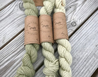 Merino & Alpaca ~ Aran weight ~ Naturally Hand Dyed ~ Coffee ~ 28g