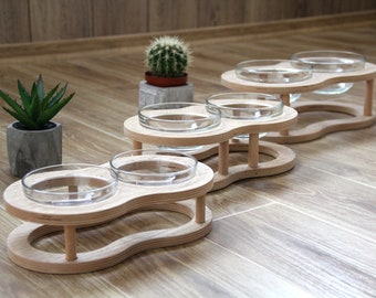 Raised Pet Bowls for Cats and Dogs Raised Pet Dish Food and Water Bowls for Small to Medium Dogs and Cats  Double Cat Dog Bowls Elevated