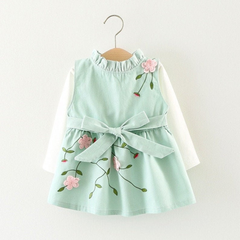 Pinafore Mädchen Kleid Baby-Mädchen-Blumen-Kleid Herbst | Etsy
