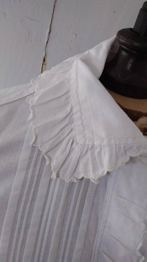 Antique french cotton chemise