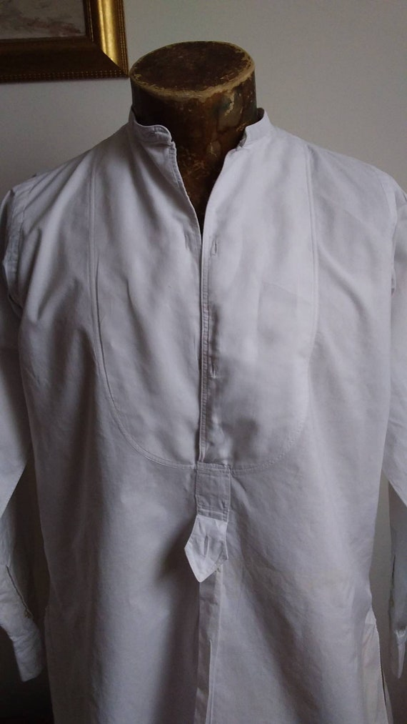 1930s French cotton Dress Shirt