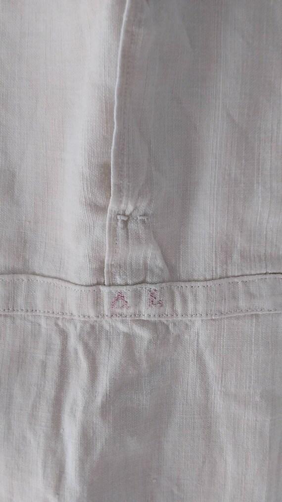 Fine Antique French chenvre hemp shirt - image 4