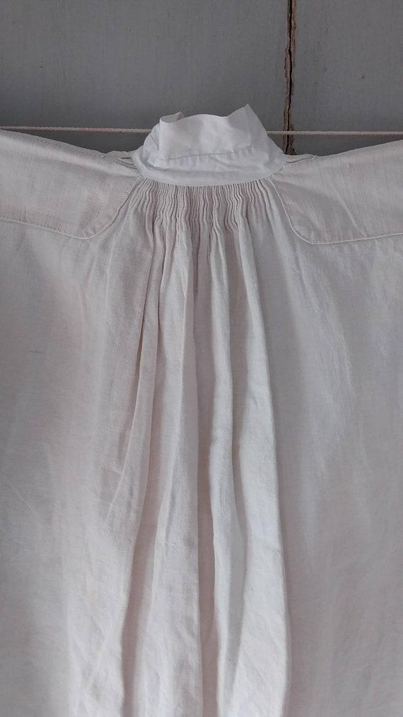 Fine Antique French chenvre hemp shirt - image 6