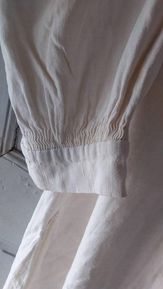 Fine Antique French chenvre hemp shirt - image 5