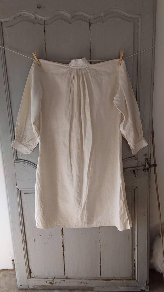 Fine Antique French chenvre hemp shirt - image 7