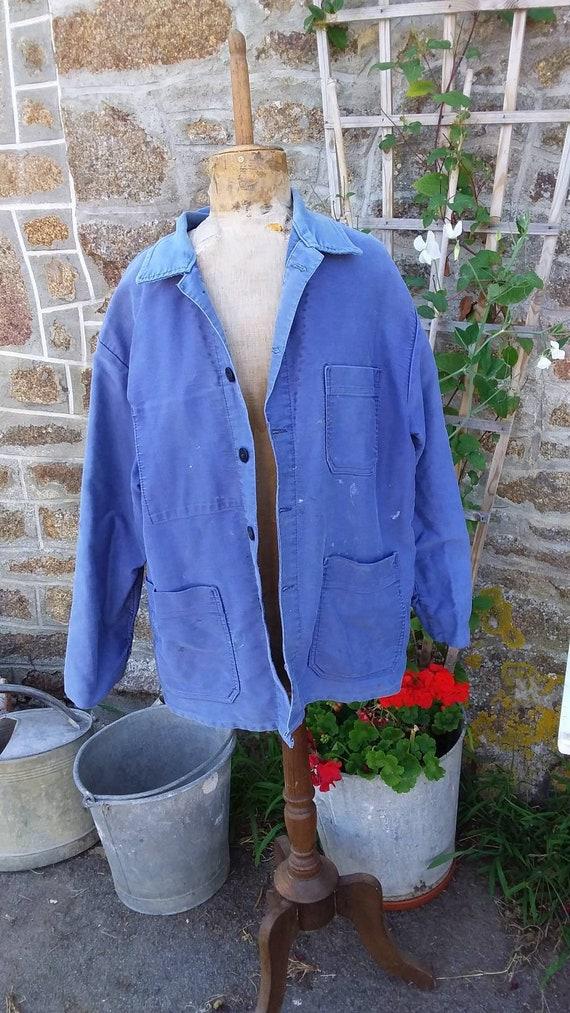 Vintage French moleskin workwear Jacket Large Size