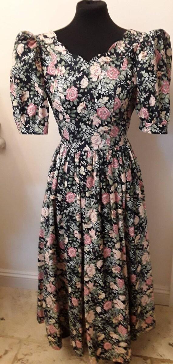 Vintage  Laura Ashley  1980's floral dress.