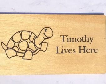 Tortoise Metal Oval House Plaque