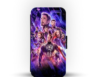 Personalised iPhone Samsung Wallet Phone Cover iPhone 12  Pro  Pro Max  Mini  S10  S20 Marvel Avengers Black Panther